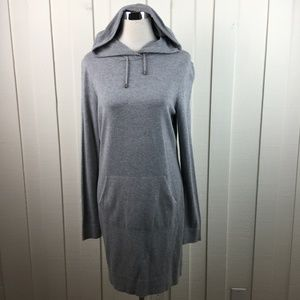 Fabletics Gray Hoodie Sweater Dress With Pocket